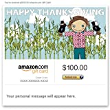 Amazon Gift Card - E-mail - Happy Thanksgiving