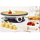 Health and Home Crepe Maker - 13 Inch Crepe Maker & Electric Griddle - Non-stick Pancake Maker (Color: Black)