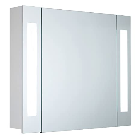 "Mebasa mybspkmd5 Wardrobe ""Corner, 1 Door, Adjustable Glass Shelves, T5 fluorescent tube, Soft Close, Switch Outdoor, Pre-Assembled"