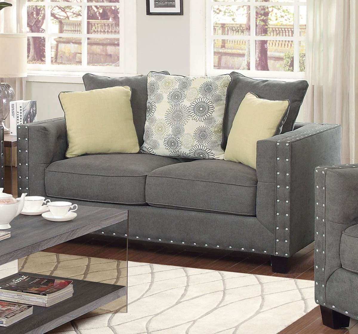 Coaster 501422 Home Furnishings Love Seat - Charcoal