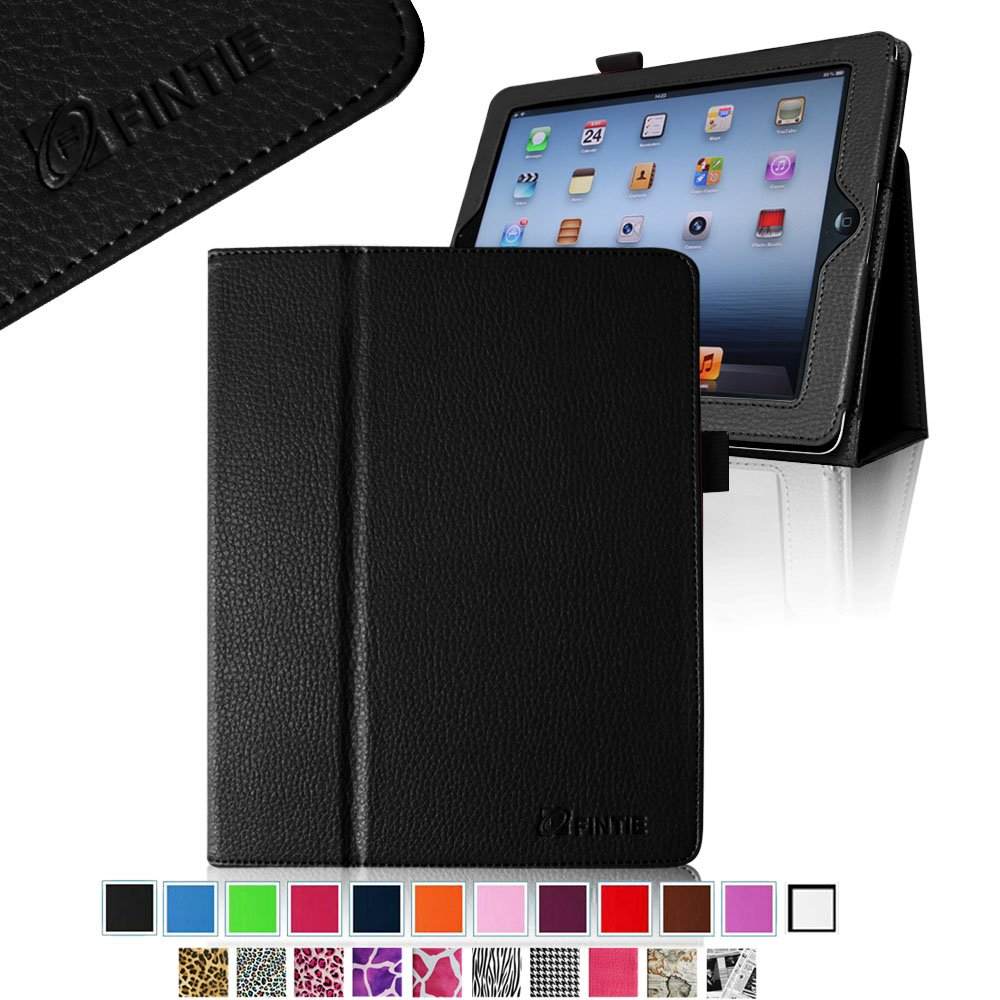 Fintie Folio PU Leather Case Cover for iPad 4th Generation With Retina Display, iPad 3 & iPad 2 (Black)