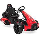Best Choice Products 12V Kids Go-Kart Racer Ride-On Car w/ Push-to-Start Function, Foot Pedal, 2 Speeds, Spring Suspension - Red (Color: Red)