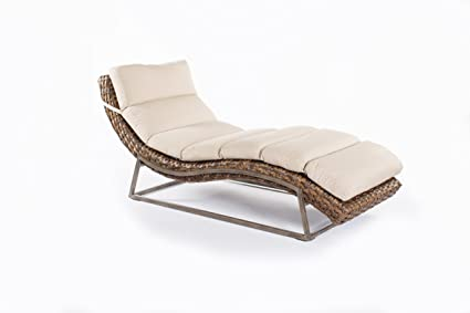 Metropolitan Home Chaise Lounger with Cushion, Natural