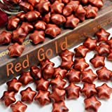 Wax Seal Stamp Kit,Mingting Vintage Wax Stamp Seal Kit Initial Letters Alphabet (Lucky Star Red Gold) (Color: Lucky star Red Gold)