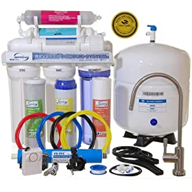 iSpring RCC7AK - WQA GOLD SEAL - 6 Stages 75GPD Reverse Osmosis Water Filter System