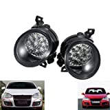 Daphot-Store - For Volkswagen VW Golf Jetta GTI MK5 2005-2009 Auto Fog Light Lamp Car Front Bumper Grille Driving Lamps LED Fog Lights Set Kit (Color: A Pair)