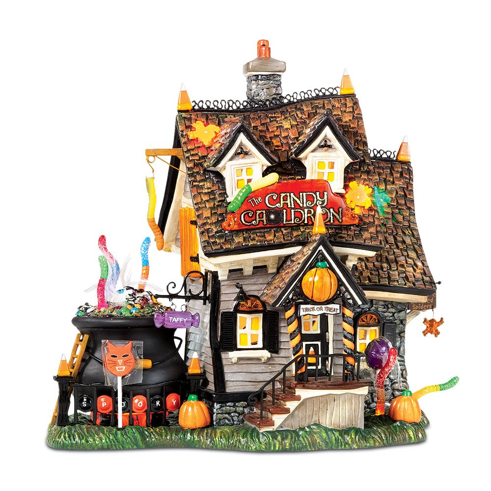 dept 56 halloween village the candy cauldron ebay. Black Bedroom Furniture Sets. Home Design Ideas