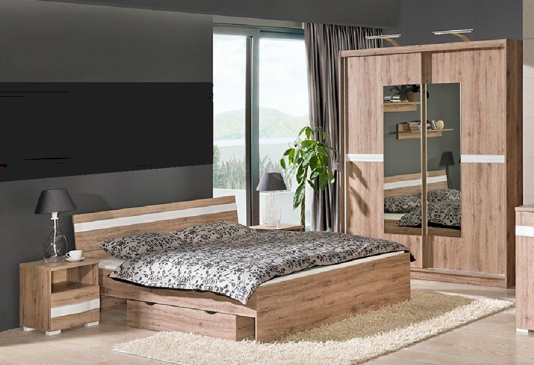 Schlafzimmer Set RAVENNA komplett 6-tlg. Schrank Bett Schublade Nakos NEU online kaufen