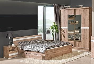 Schlafzimmer Set RAVENNA komplett 6-tlg. Schrank Bett Schublade Nakos NEU