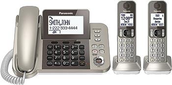Panasonic KX-TGF352N DECT 6.0 Corded / Cordless 2 Handset Phone