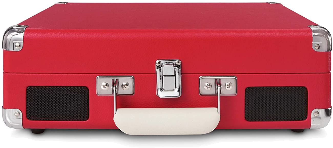 Crosley CR8005A-RE Cruiser Portable 3-Speed Turntable, Red 2