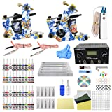 Wormhole Tattoo Complete Tattoo Kit for Beginners Tattoo Power Supply Kit 40 Tattoo Inks 30 Tattoo Needles 2 Pro Tattoo Machine Kit Tattoo Supplies TK1000015