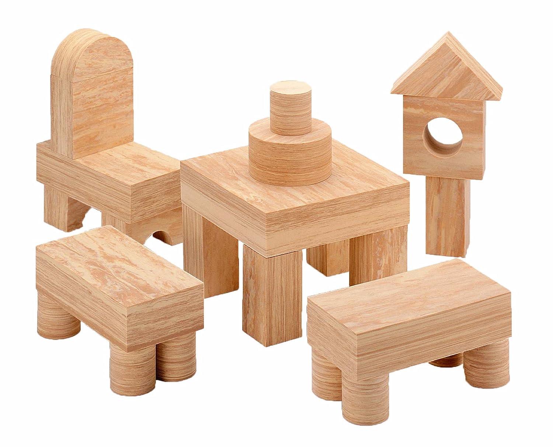 WePlay KC2102 – Soft Wood Bausteine, 152-teilig online kaufen