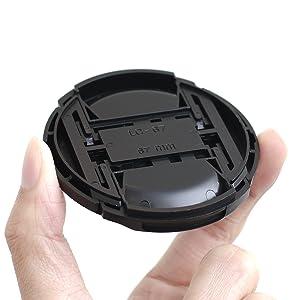 IMZ Lens Cap Bundle - 4 x 67MM Front Lens Filter Snap On Pinch Cap Protector Cover for DSLR SLR Camera Lens 67x4 (Tamaño: 67 mm)