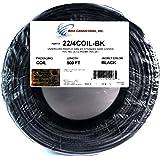 22 Ga 4 Conductor UL STRANDED COPPER BLACK 500 FT Security Alarm Wire (Color: Black)