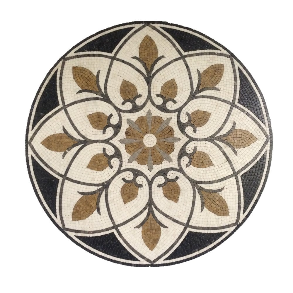 Marble Mosaic Stone Medallion Floor Wall Art Tile 36