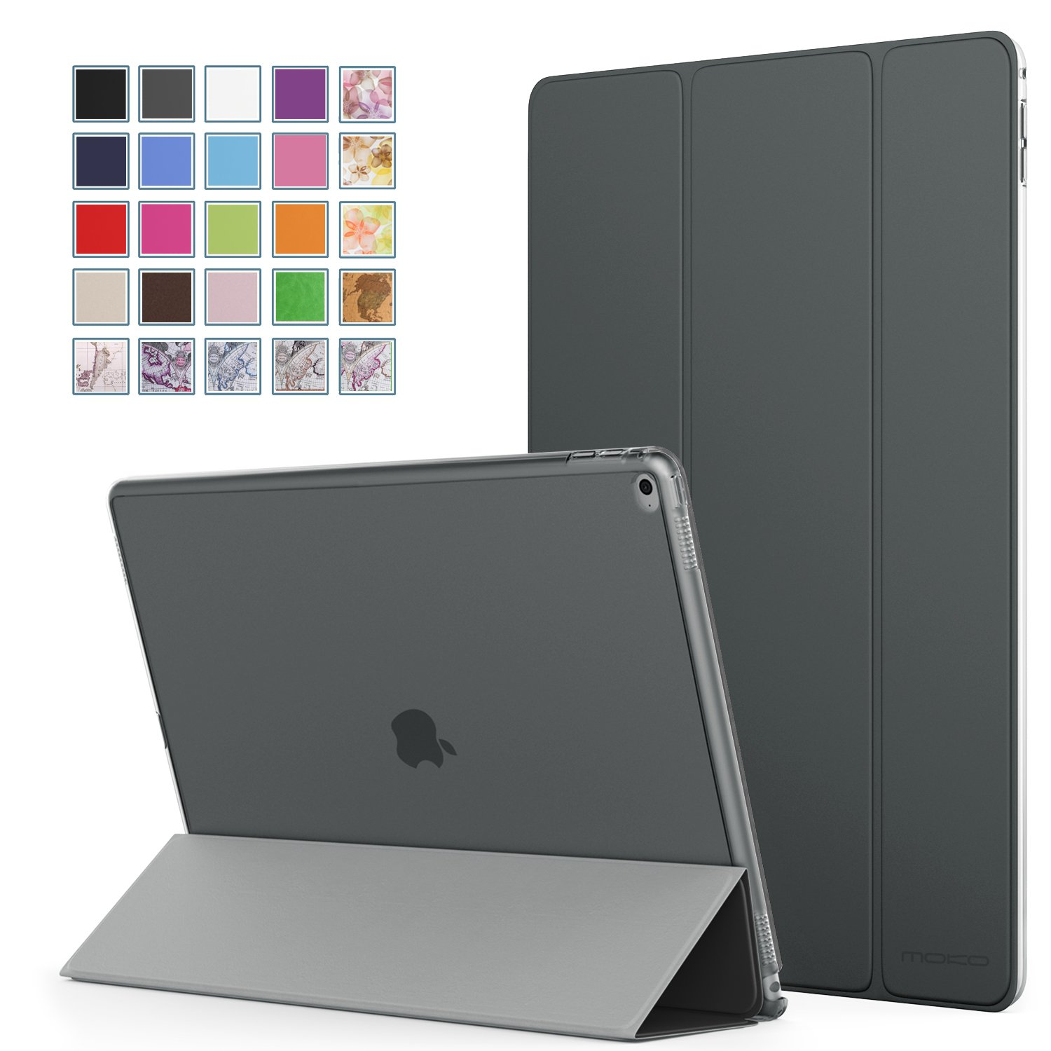 iPad Pro 9.7 Case - MoKo Ultra Slim Lightweight Smart-shell Cover with Frosted Hard Polycarbonate Protector for Apple iPad Pro 9.7 Inch 2016 Release Tablet, Space GRAY