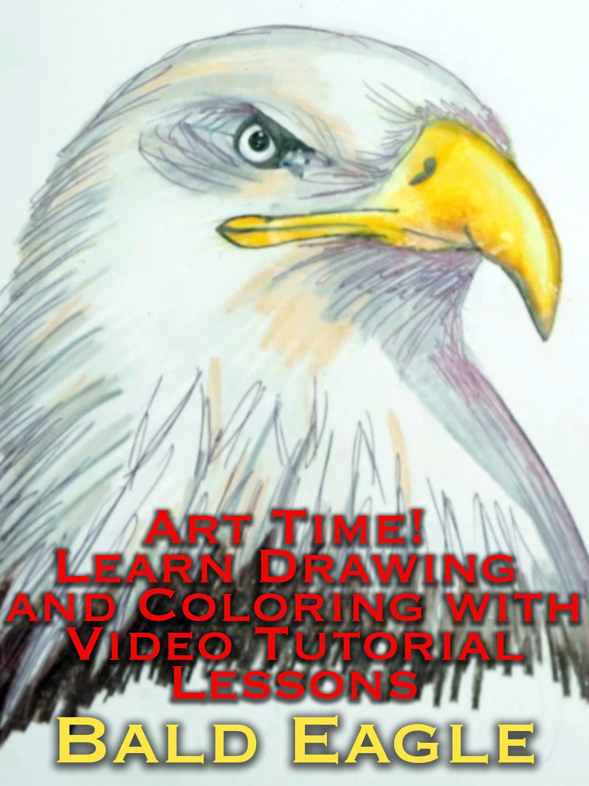 Art Time! Learn Drawing and Coloring with Video Tutorial Lessons Bald Eagle