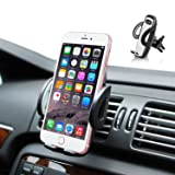 Quntis Car Mount Holder, Air Vent Car Phone Mount Universal Car Cradle with 360 Degree Rotation for iPhone 8 8 Plus 7 7 Plus 6s 6 Plus Samsung Galaxy LG and more (Black)