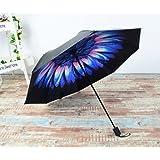 BESTFUN Travel Umbrella - lightweight Rain Umbrella for Men and Women, Windproof Folding Compact Umbrellas with Multiple Colors (Flowers) (Color: Flowers)