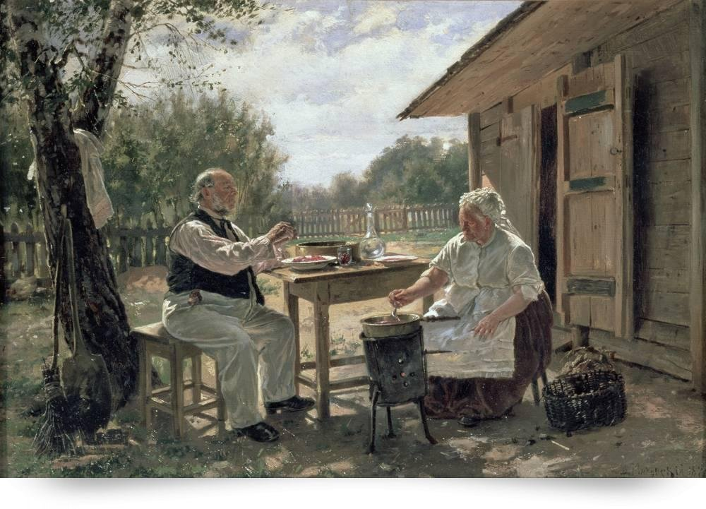 """Making Jam"" by Vladimir Egorovic Makovsky, 1876"