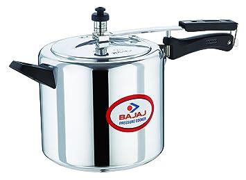 Bajaj Majesty Pressure Cooker with Inner Lid, 6.5 Litres, Sliver