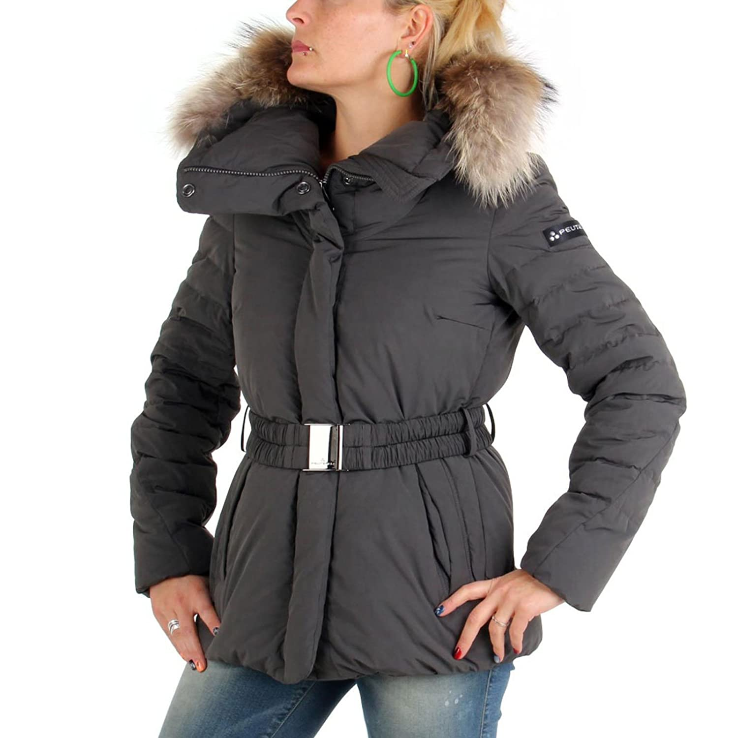 PEUTEREY Damen Winter Daunenjacke Messy Nero 556