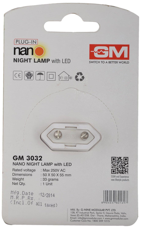 Night lamps india - Gm 3030 0 5 Watt Sensor Led Night Lamp With Auto Sensing Device Orange Pack Of 2 Amazon In Home Kitchen