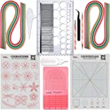 JUYA Quilling Paper and Tools Classic Set QK10 (Pink, Have Glue) (Color: Pink, Have Glue)