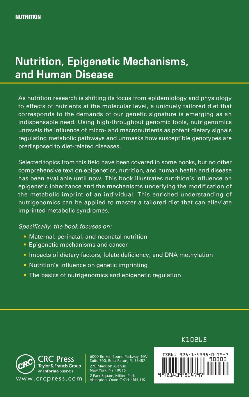 Nutrition Epigenetic Mechanisms And Human Disease Pdf