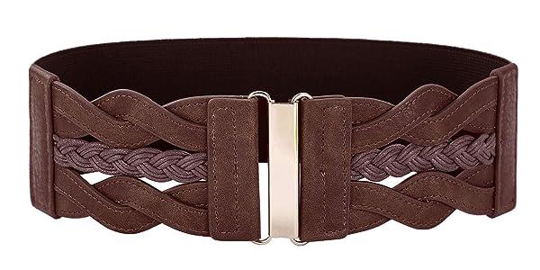 1950s Retro Wide Waist Belt Plus Size Belt 2XL Cinch Belt (Color: Coffee, Tamaño: XX-Large)