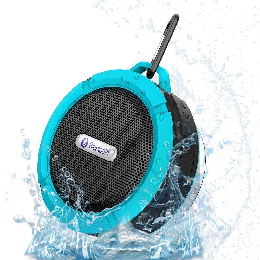 Mini enceinte portable sans fil tanche de chez victsing for Haut parleur etanche pour piscine