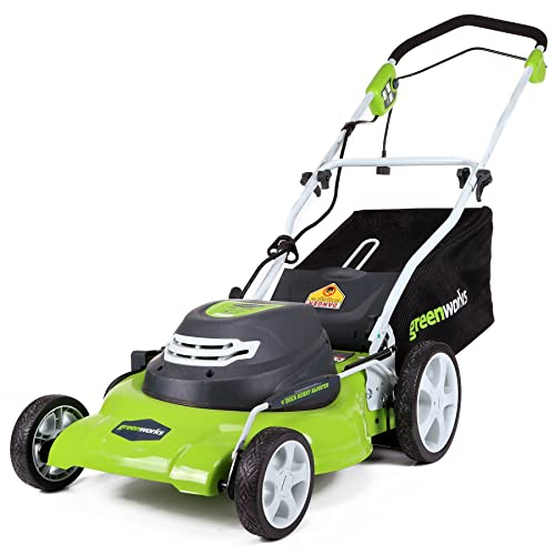1. GreenWorks 25022 12 Amp Corded 20-Inch Lawn Mower