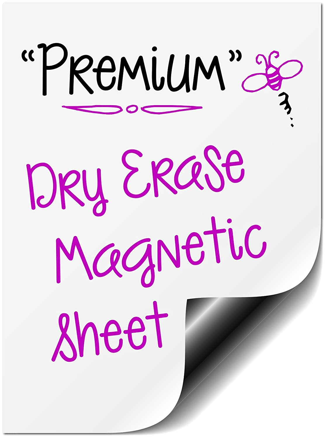 """Bigtime Magnetic 16"""" Dry Erase Message Board for Refrigerator Use as a Horizontal or Vertical Whiteboard Weekly Planner Calendar Fridge Magnet. Also Great as a Meal, Grocery, To Do or Chore List"""