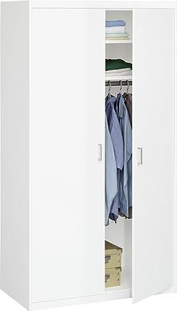 CS Schmalmöbel 12/24 Kleiderschrank 24 Soft Plus Cremeweiss (106x194x54)