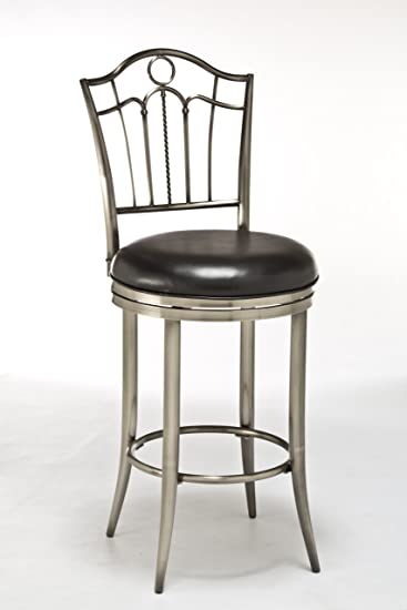 Counter Stool with Black Vinyl Seat