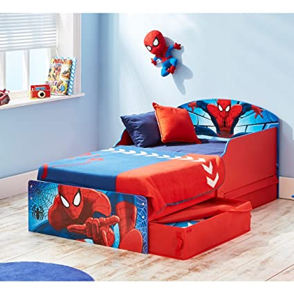 Kinderbett Spiderman Design mit Schubladen 70x 140