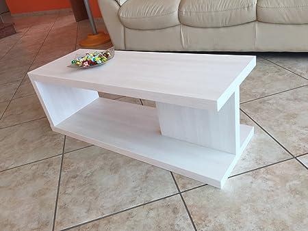 VE.CA-ITALY Tavolino basso salotto moderno in legno Bianco made in Italy