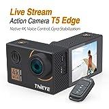 ThiEYE Action Camera T5 Edge Native 4K Live Stream WiFi Waterproof Sport Video Camera 20MP Ultra-HD 2