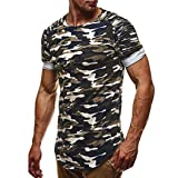 Forthery Mens Fashion Casual Short Sleeve Pullover Crew Neck Tee Pullover T Shirts (Green, US M = Asia L)