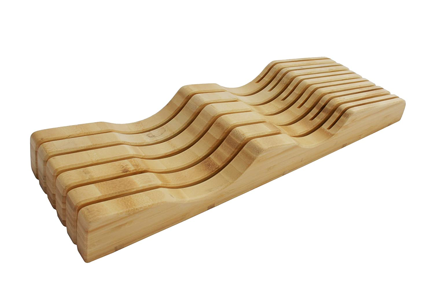 In-Drawer Bamboo Knife Block by Shenzhen Knives