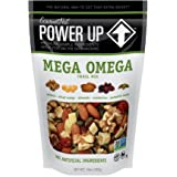 Power Up Trail Mix, Mega Omega Trail Mix, Non-GMO, Vegan, Gluten Free, No Artificial Ingredients, Gourmet Nut, 14 Ounce Bag (Color: Green, Tamaño: 14oz)
