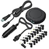 Outtag 90W 15-20V Universal Laptop Car Charger DC Power Adapter w/Multi Tips & Detachable Cord for HP Dell Toshiba IBM Lenovo Acer ASUS Compaq Samsung Sony and More Notebooks (Black) (Color: Black)