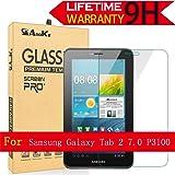 Galaxy Tab 2 7.0 Glass Screen Protector, AnoKe(0.3mm 9H) Tempered Glass Screen Protector Film Sheild for Tab 2 7.0 P3100 Glass (Color: Galaxy Tab 2 7.0 P3100)