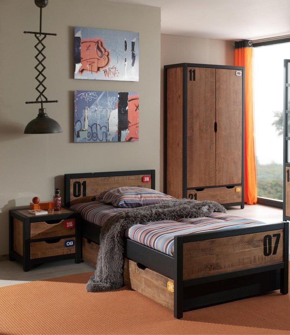 Jugendzimmer Set Nils 3-teilig in Kiefer massiv günstig