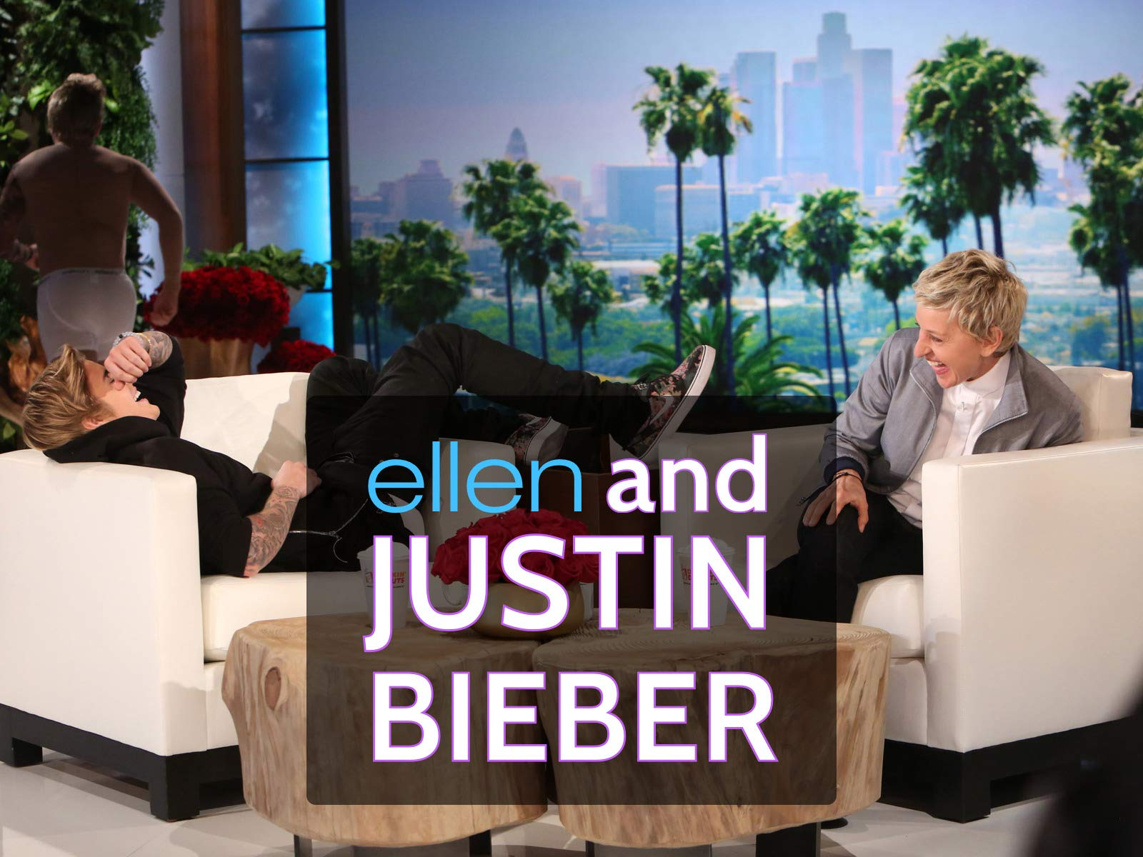 Ellen and Justin Bieber on Amazon Prime Video UK
