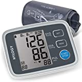Blood Pressure Monitor, HYLOGY Digital Automatic Upper Arm BP Monitor Cuff 8.7 to 12.6 Inch, Large Screen Display and 2 Users Mode 2 * 90 Memory Storage (Color: Black, Tamaño: 17*12*8)