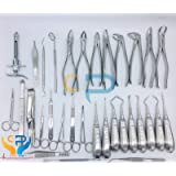 32 Pcs Oral Dental Extraction Surgery Extracting Elevators Forceps Instruments.