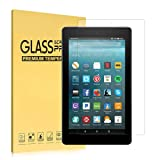 Fire 7 Screen Protector(7th Generation, 2017), iThrough Tempered Glass Screen Protector Film for All-New Kindle Fire 7 Tablet, HD Clear Bubble Free 9H Hardness Screen Protector[One Piece]
