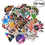 Stickers[100PCS],KOOLIFE Waterproof Vinyl Stickers for Laptop, Car, Skateboard, Helmet,Bicycle, No-Duplicate Sticker Pack (Color: 100PCS)